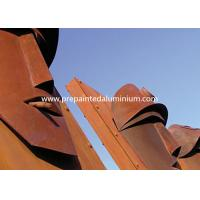 China High Strength Corten Steel Laser Cut Panels For Sculpture Decoration / Curtain Wall wholesale