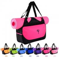 China Promotional polyester girls sports dance gym yoga bags with mat wholesale