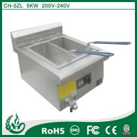 China commercial induction deep fryer with 5kw wholesale