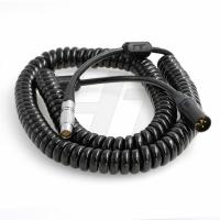 China 24V Teradek ARRI Camera Cable , 8 Pin Female to XLR 3-pin Male Coiled Power Cable wholesale