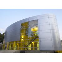 China Silver Gold Non Combustible Aluminum Curtain Wall Extrusions Facade Cladding wholesale