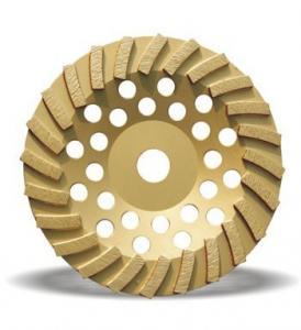 China Granite marble concrete aluminum turbo diamond cup grinding wheel wholesale