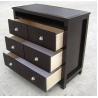 China American Style Bedroom 3 Drawer Dresser HPL Top Oak / Walnut Wood wholesale