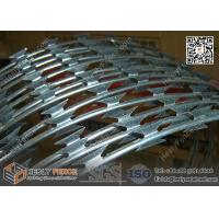 China 900mm O.D Concertina Razor Wire Cross Coil | BTO-30 Razor Wire China wholesale
