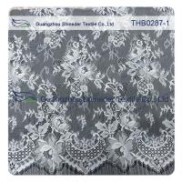 China Light Two-tones Colors Polyester & Nylon Chantilly Lace for Wedding & garment dress wholesale