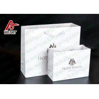 Two Sizes Branded Custom Printed Paper Bags Promotional Use OEM / ODM Manufactures