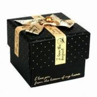 China Luxury food candy paper gift packaging box with colorful ribbon wholesale