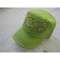 China Promotional Canvas / Cotton Baseball Caps For Girls, Patch Embroidery Ball CapsWith Velcro / Plastic Buckle wholesale