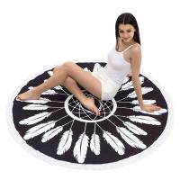 China Round Beach Towel Beach Blanket Large Microfiber Towels Yoga Mat With Tassels wholesale