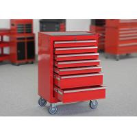 China Workshop Garage Metal Tool Cabinet On Wheels With 7 Drawers And Handle wholesale