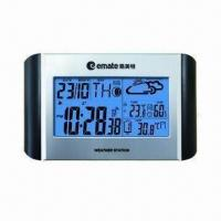 China Wireless Classic Weather Station Clock with RCC, Weather Forecast and Comfort Level wholesale