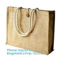 China Reusable Natural Eco Personalised Hessian Jute Shopping Bags,Eco Shopping Wine Tote Clutch Supplier Small Gift Beach Pri on sale
