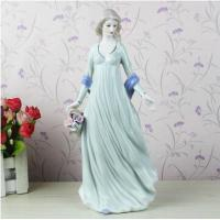 China The modern home decoration accessories European girl figurines wholesale