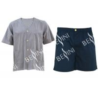 China Customized Size Mens Silk Pajama Set , Environmental Mens Pajama Shorts Set wholesale