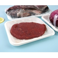 China 52g Degradable cornstarch disposable plates For Fresh Fruit And Vegetable Tray wholesale