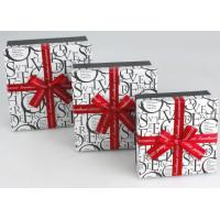 China 6.5 * 6.5 * 2 Inch Decorating Gift Boxes, Cardboard Scarf Box With Ribbon wholesale