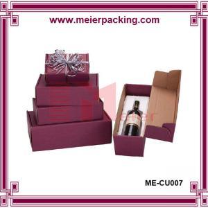 China Red wine corrugated packaging box, wedding wine paper box, wine gift box ME-CU007 wholesale
