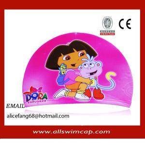 China Hot sale  Kid polyester swim cap wholesale