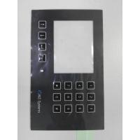 China Custom PC PET Membrane Control Panel With Clean Window Full Key Emboss SGS wholesale
