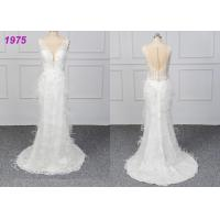 China Strapless Luxury A Line Ball Gown Wedding Dress , White Ball Gown Dress wholesale