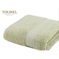Comfortable 16/21/32S Cotton Hotel Bath Towels Fabric Grass Green Easy To Dry