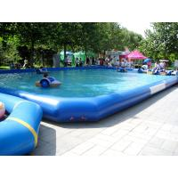 China Large Outerside Metal Frame PVC Inflatable Swimming Pools , Durable and Portable wholesale