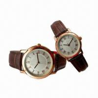 China Gift Wirst Watches, Made of Alloy Metal and Leather Strap, Pass RoHS/CE Mark, Nickel Free wholesale