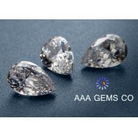 China Decoration High Hardness Pear Shaped Moissanite For Rings / Earrings wholesale