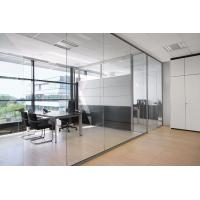 China Conference Room Decorative Aluminum Clear Glass Sliding Partition Walls wholesale