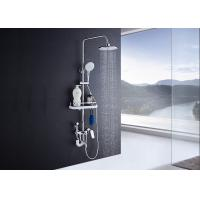 China Adjustable Slide Bar Rain Shower Set ROVATE Exposed Pipe Shower Systems wholesale