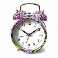 China Alarm Clock with Leopard Pattern Design Printing, OEM Orders are Welcome wholesale