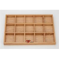 China Professional Jewelry Display Tray 5*3 With Wooden Material / Earring Holder Stand wholesale