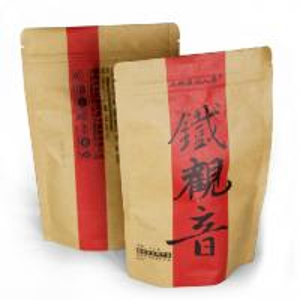 China Stand up karft paper bag , food packaging bag with slide zip lock on sale