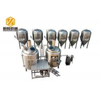 Buy cheap three vessels professional brewing equipment 1000L combination brewhouse with 6 fermenters from wholesalers
