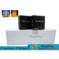 China 100% PVC Plastic Playing Cards / Casino Gold Plated Card With Two Color wholesale