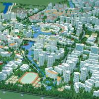 China 3D city model architectural scale model , model railway buildings wholesale