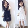China 2016 Fashion Girl White Kid's Dress Dancing Chinese Lace Dress Cute Prince Q097 wholesale