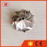 China HT10 46.50/61.40mm 5+5 blades high performance milling/aluminum 2618/Billet compressor wheel wholesale