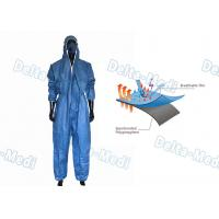 China Blue Film Breathable Disposable Coveralls Working Uniform S - XXL For Industry wholesale