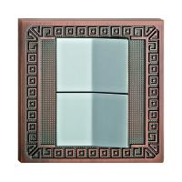 China High Quality Forged Brass Wall Light Switch With Classic Patterns wholesale