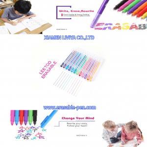 China Nontoxic Ink Colorful Rubber Eraser Gel Erasable Ball Pen wholesale
