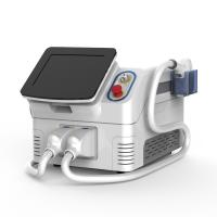 China 2 Handles Portable Diode Laser Hair Removal Machine , Easy Use Laser Epilation Machine wholesale