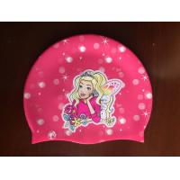 Buy cheap Custom Food Grade Silicone Swim Cap with Thermal Transfer Printing from wholesalers