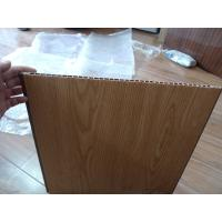 China Heat Insulation PVC Wall Panel Wooden Color 40cm x 12mm For Office Decor wholesale