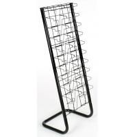 China 20 Pockets Paper Magazine Display Racks With Chrome Plating wholesale
