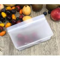China Stand-up EVA Waterproof Ziplock Fruits Bags Leakproof Lunch Bags Reusable Snack Bags for Snacks Fruits Soups Storage wholesale