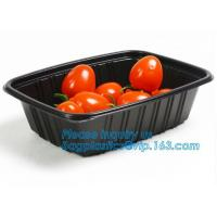 Quality OEM and ODM custom plastic 2100ml pp 4 compartment plastic food box,disposable food container, plastic plate, plastic cu for sale