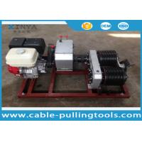 China 5T Cable Drum Gasoline Engine Powered Winch For Pulling / Lifting During Tower Erection wholesale