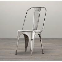China Modern Stackable Metal Wood Dining Chairs , red grey Silver dining chairs metal frame wholesale