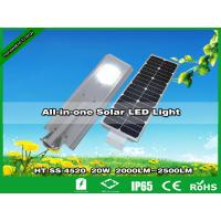 China Hitechled 20W Smart All-in-one Solar LED Street Light | Farola Solar De Jardin HT-SS-4520 wholesale